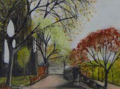 Stephanie Dees, RSW (B.1974) Princes Street Gardens, Pastel, signed, 29 x 20cm