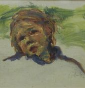 Damian Callan, Study of A child II gouache, signed and dated '02, framed under glass with a Scottish
