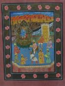 Indian School, gouache, framed under glass, 24 x 30cm