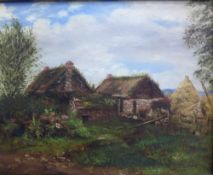 Old Drumgley, Oil on board, unsigned, in a giltwood frame, size overall 35 x 29cm