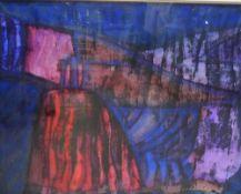 Steve Collinbourne, Shadow Lands III, Mixed Media, framed under glass, 75 61cm