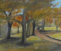 Stephanie Dees, RSW (B.1974) Autumn Trees, Mixed media, signed, framed under glass, 24 x 20cm