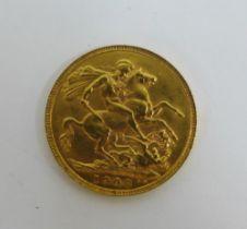 Edward VII, 1908 full gold sovereign