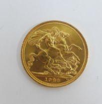 Elizabeth II, 1963 full gold sovereign