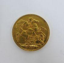 Edward VII, 1910 full gold sovereign