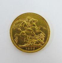 Queen Victoria 1886 full gold sovereign