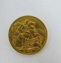 George V, 1911 full gold sovereign