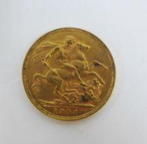 Edward VII, 1904 full gold sovereign