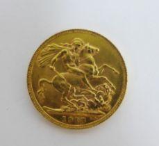 George V, 1913 full gold sovereign