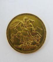 Queen Victoria 1880 full gold sovereign