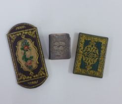 Edwardian silver fronted miniature new Testament Bible with Reynolds Angels, 5.5cm together with a