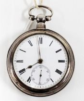 Early 20th century silver pair cased pocket watch, Birmingham 1912