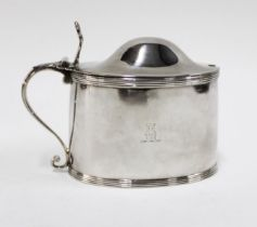 George III silver mustard by Peter & Anne Bateman, London 1797, with hinged lid and pierced shell