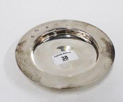 Millennium silver alms dish, Sheffield 2000, 15cm