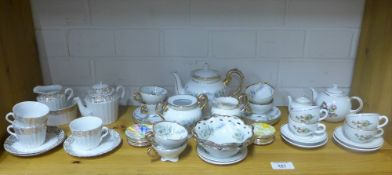 Various miniature porcelain teasets and a collection of Crown Staffordshire miniature plates (a lot)