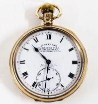 John Elkan, Gent's 9ct gold cased 'Colonial' pocket watch