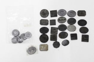 Approx thirty 18th and 19th century Church tokens (a lot)