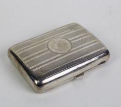 Early 20th century Birmingham silver cigarette case
