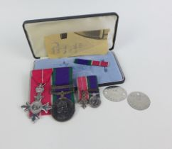 M.B.E and Northern Ireland Service medals awarded to CAPT JCG CRAGG, RE, to include miniature medals