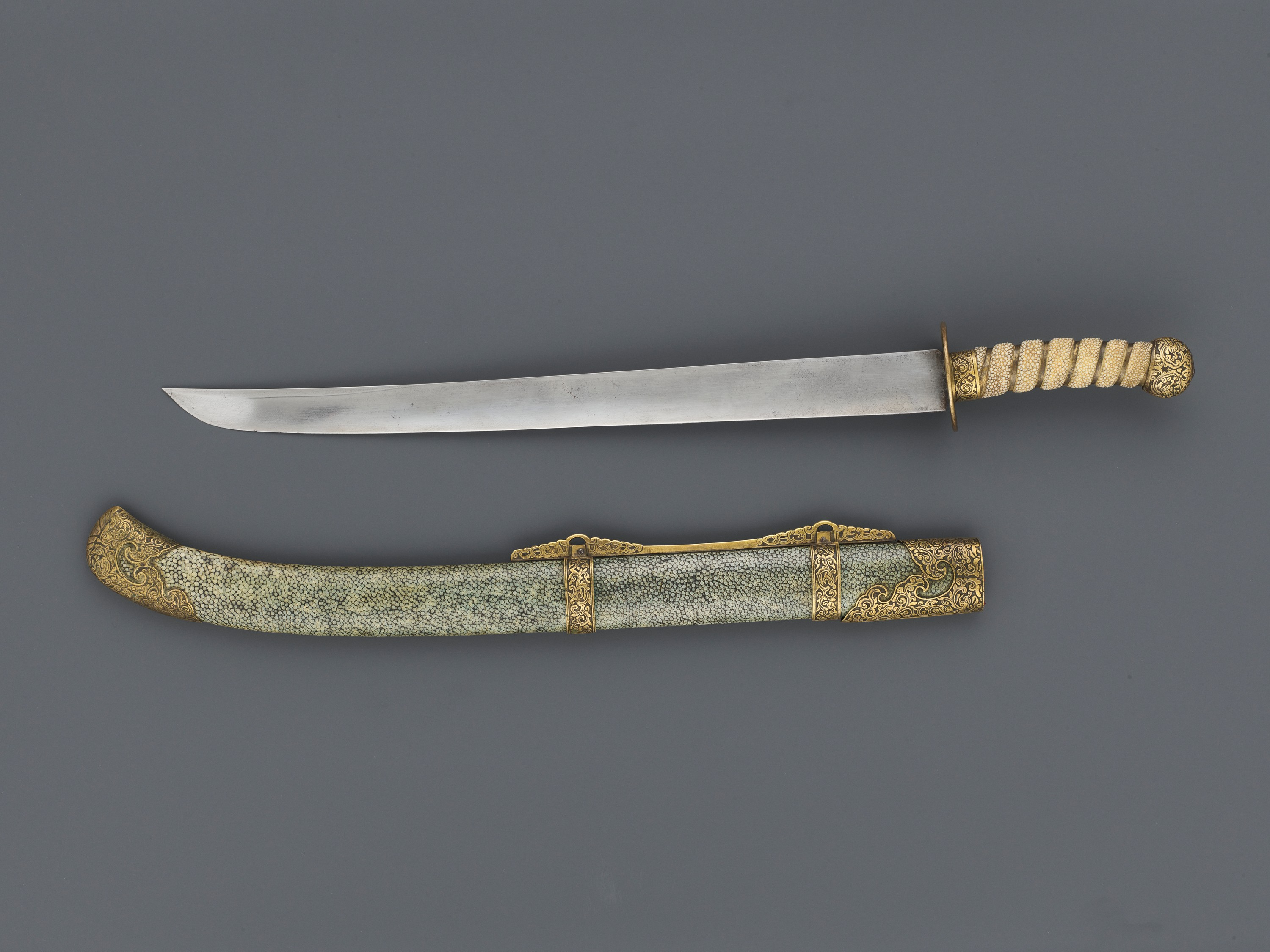 A CEREMONIAL SWORD AND SCABBARD, QING DYNASTY - Image 5 of 7