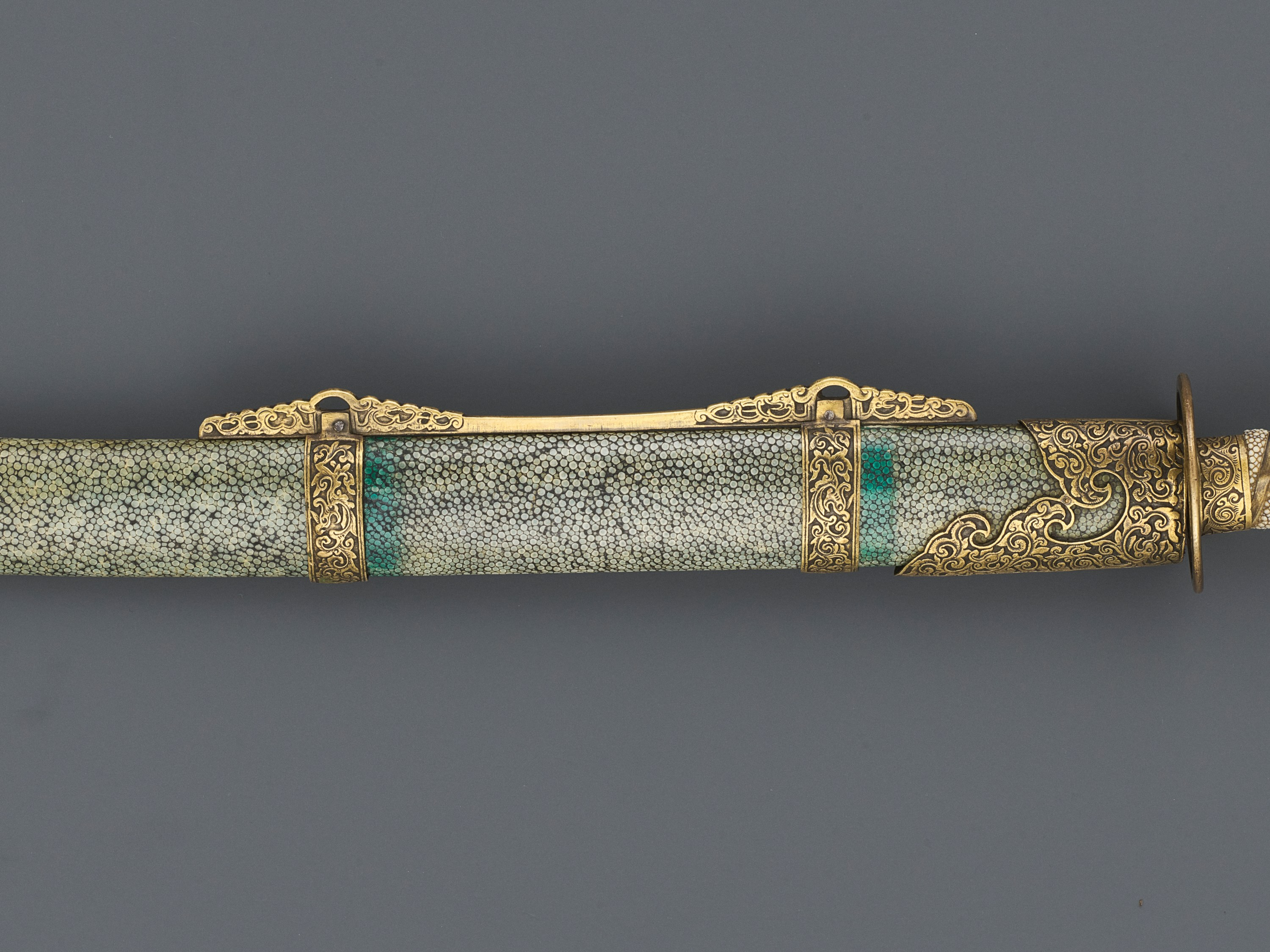 A CEREMONIAL SWORD AND SCABBARD, QING DYNASTY - Image 3 of 7