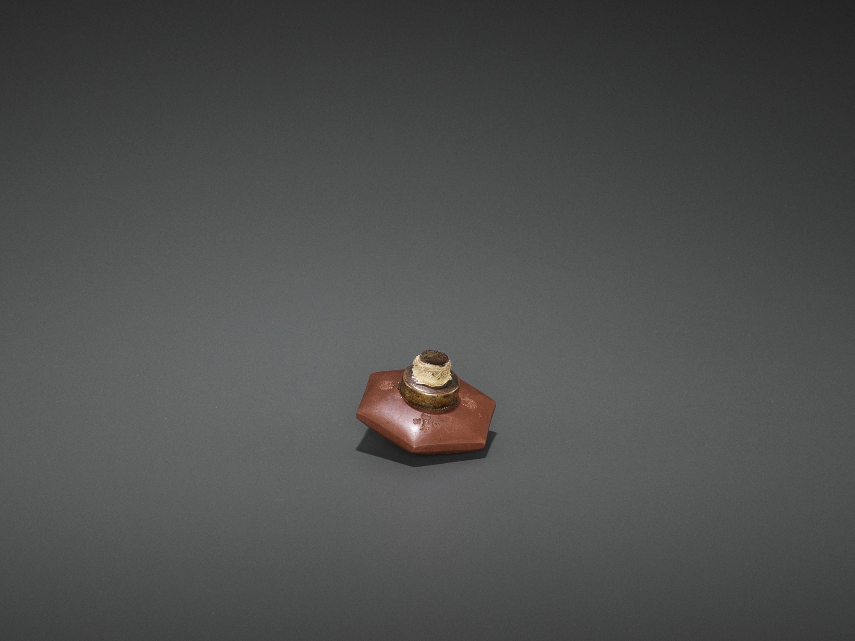 A BAMBOO OPIUM PIPE WITH HARDSTONE, SILVER AND YIXING CERAMIC FITTINGS, LATE QING TO REPUBLIC - Image 8 of 10