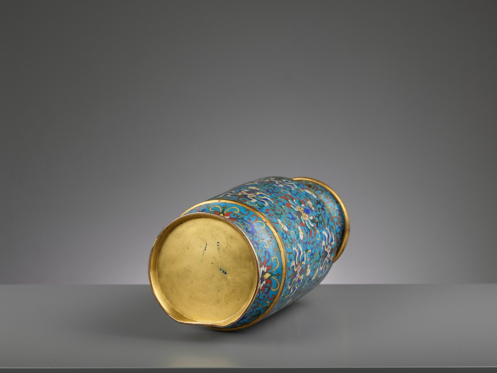 A CLOISONNE ENAMEL LANTERN VASE, JIAQING - Bild 6 aus 7