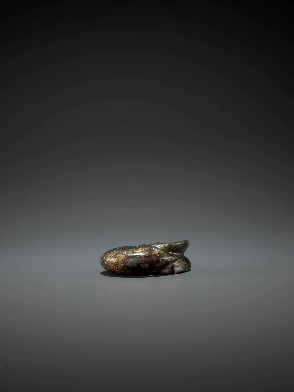 A DARK-GREEN JADE 'PIG-DRAGON' CARVING, ZHULONG, HONGSHAN CULTURE, C. 4000-3000 BC - Image 6 of 6