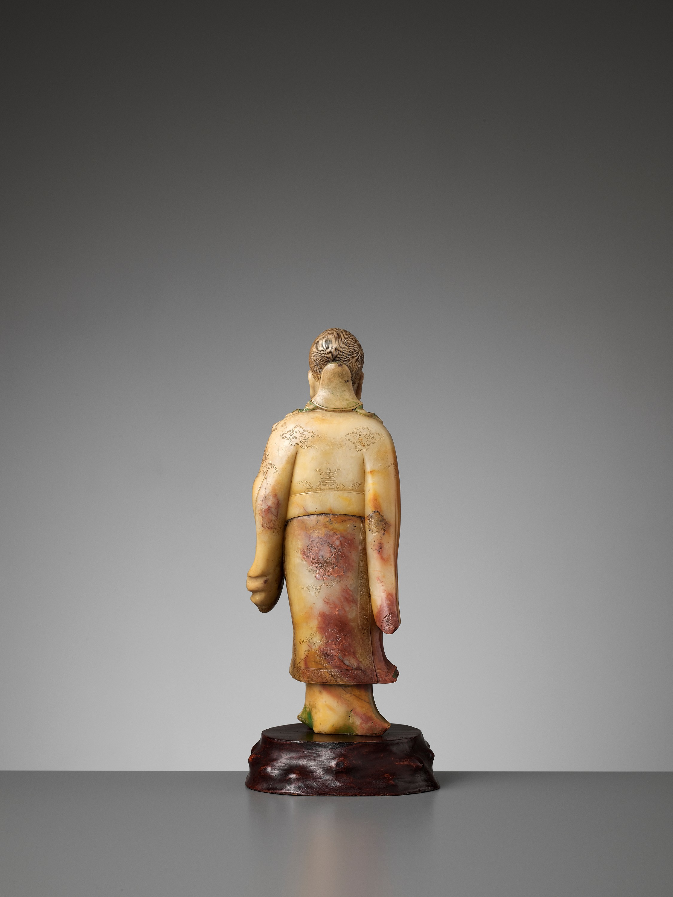 A CARVED SOAPSTONE FIGURE OF SHOULAO, MID-QING - Image 8 of 13
