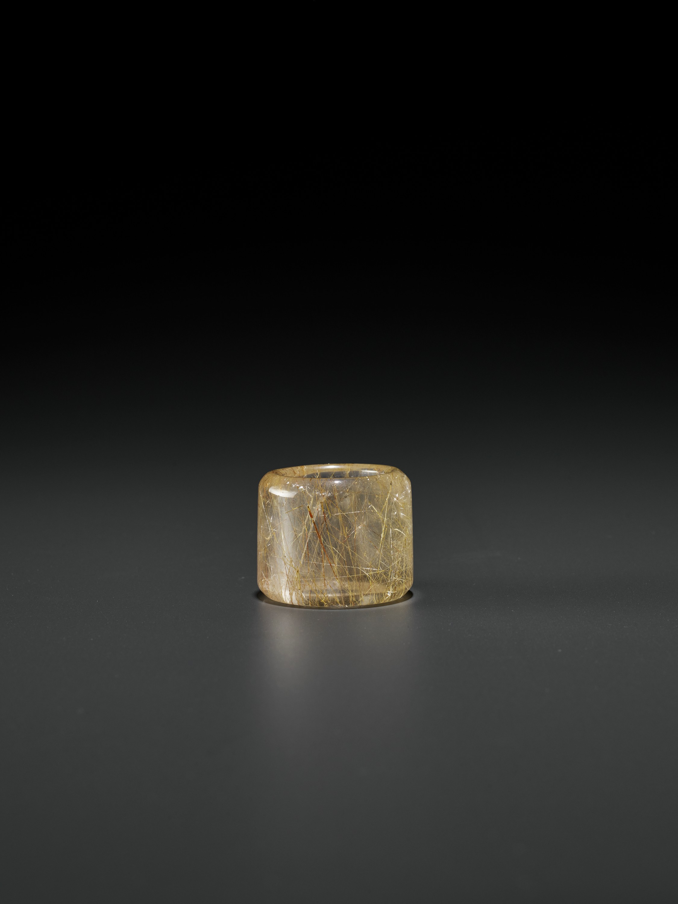 A 'HAIR' CRYSTAL ARCHER'S RING, QING DYNASTY - Image 9 of 9
