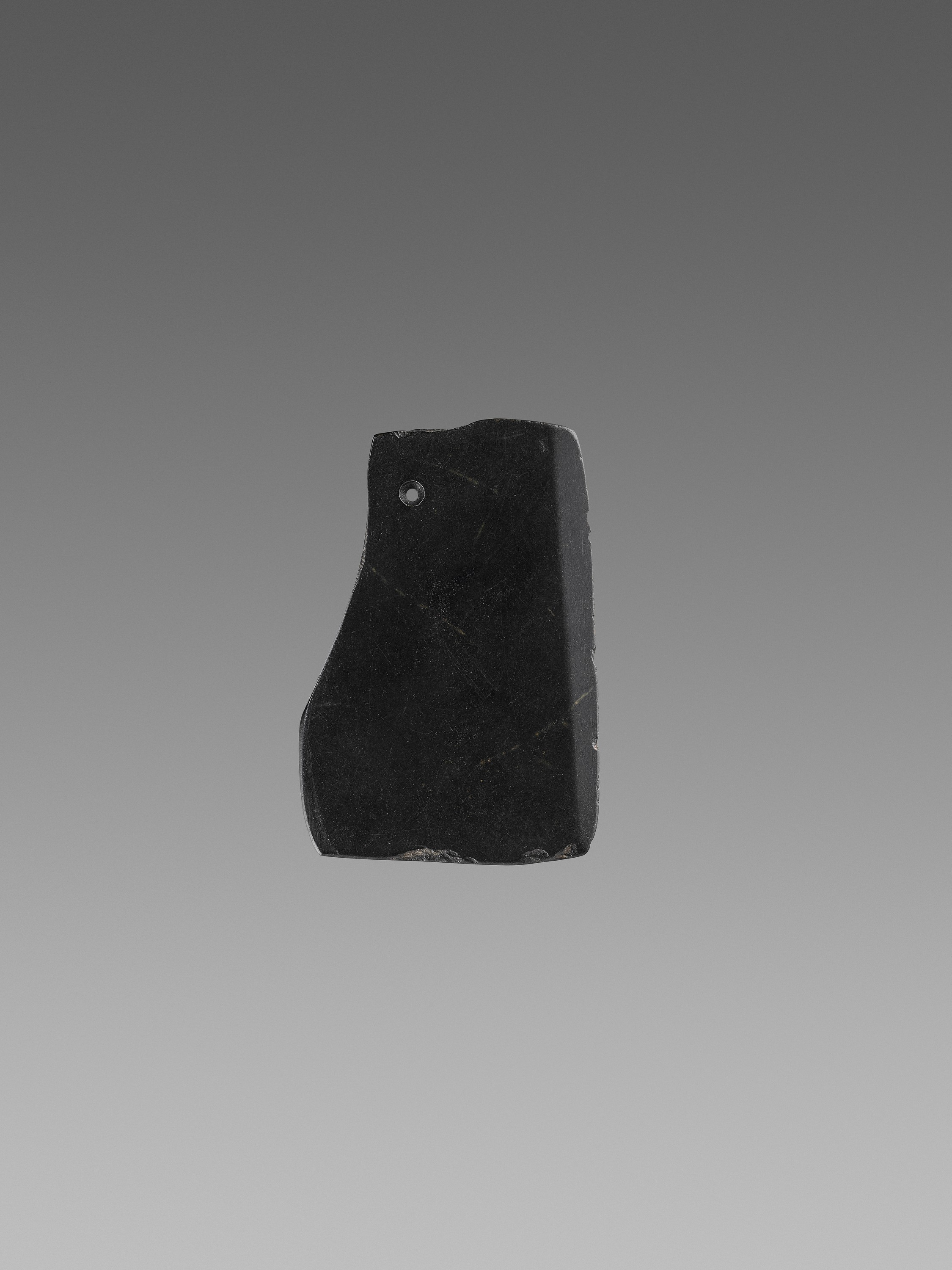 A BLACK JADE AXE, 2ND MILLENNIUM BC - Image 2 of 7
