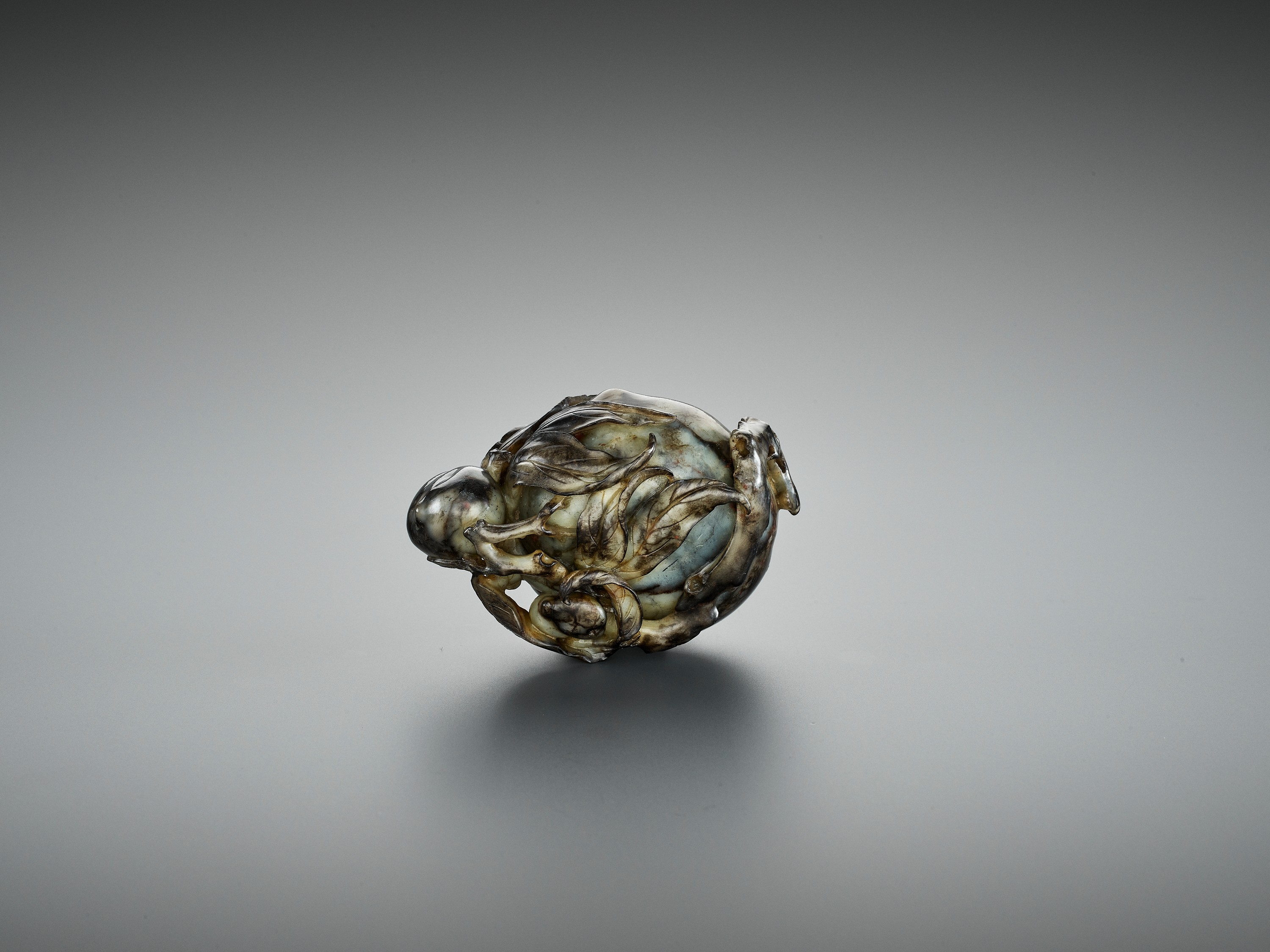 A 'PEACH' BRUSH WASHER, QING DYNASTY - Image 10 of 12