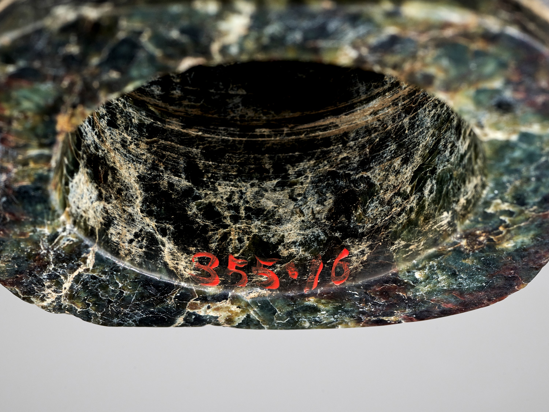 A MOTTLED GREEN JADE CONG, LIANGZHU CULTURE - Image 10 of 10