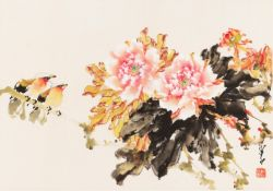PEONIES AND BIRDS' BY ZHAO SHAO'ANG (1905-1988)