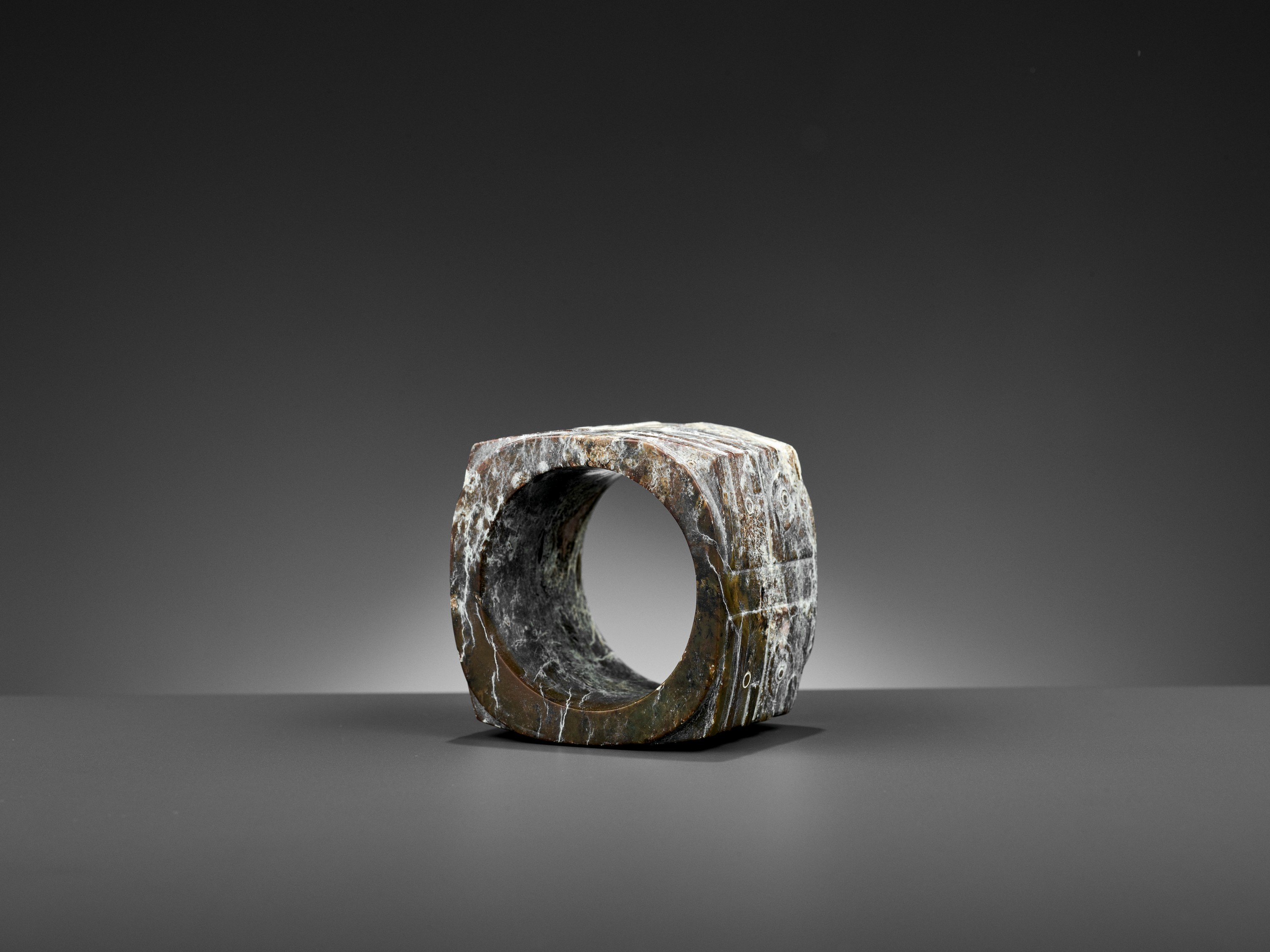 A BROWN JADE CONG, LIANGZHU CULTURE - Image 10 of 10