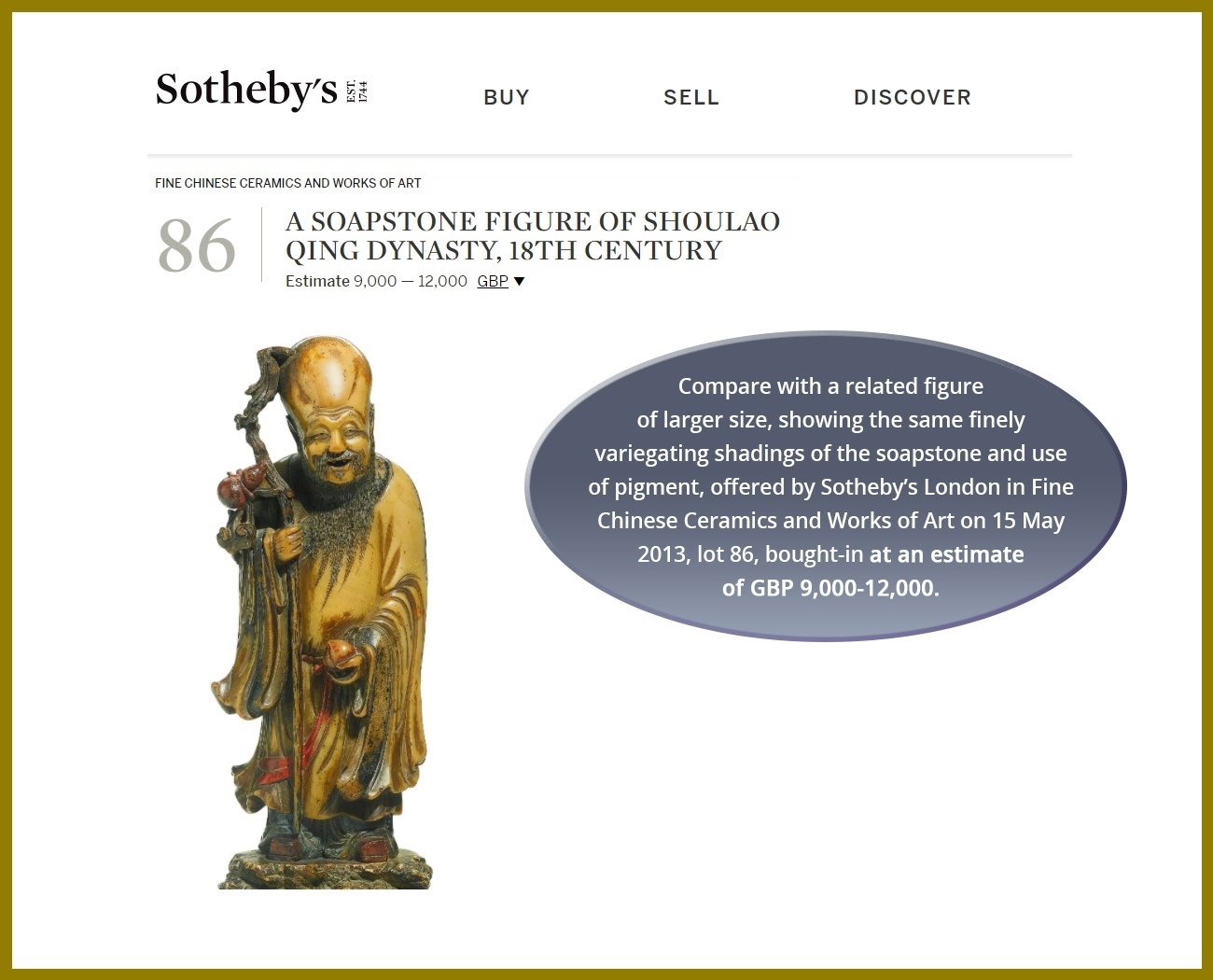 A CARVED SOAPSTONE FIGURE OF SHOULAO, MID-QING - Image 4 of 13