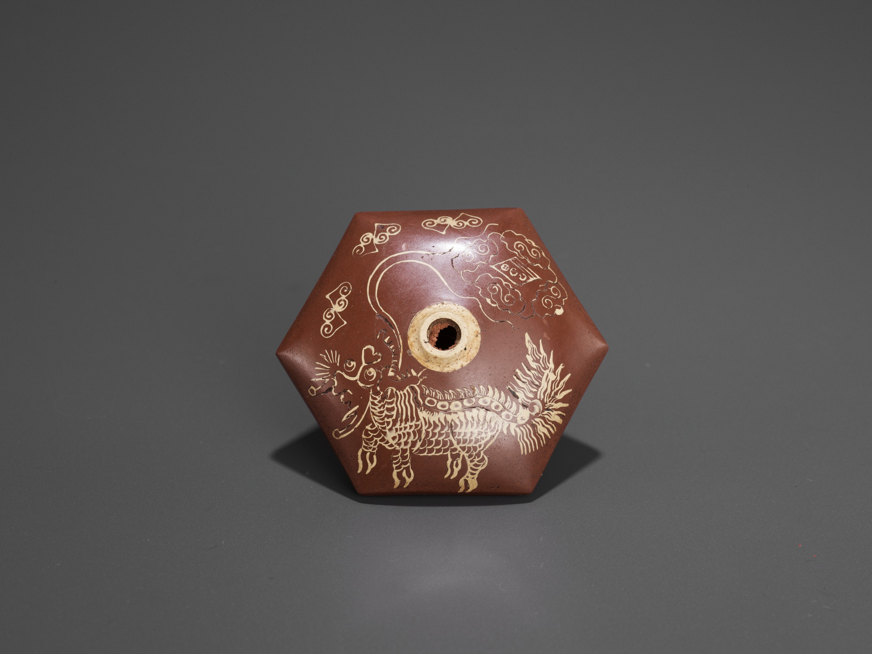 A BAMBOO OPIUM PIPE WITH HARDSTONE, SILVER AND YIXING CERAMIC FITTINGS, LATE QING TO REPUBLIC - Image 7 of 10
