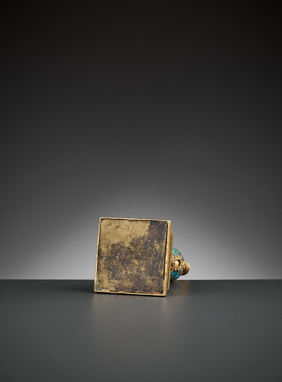 A GILT-BRONZE AND CLOISONNE ENAMEL STUPA, QIANLONG - Image 11 of 11