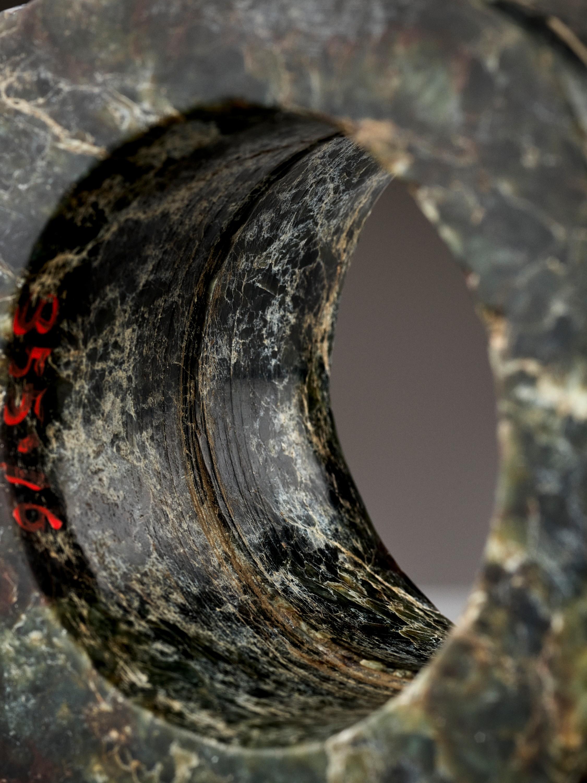 A MOTTLED GREEN JADE CONG, LIANGZHU CULTURE - Image 2 of 10