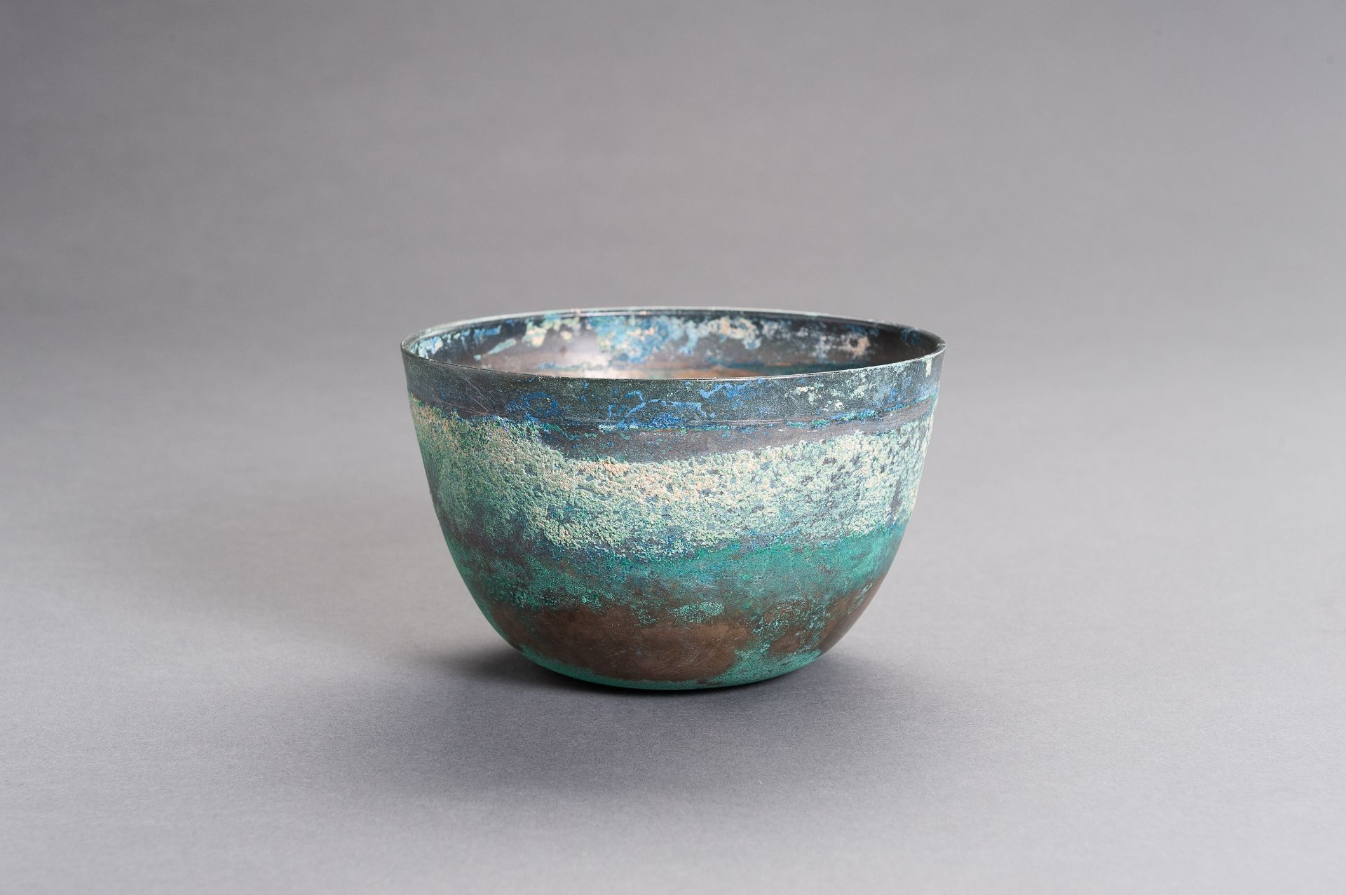 A CHINESE BRONZE BOWL, HAN