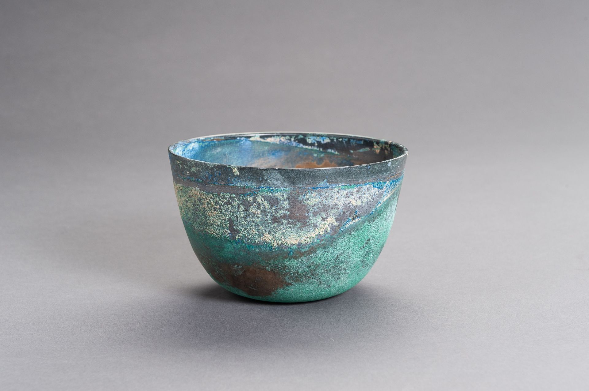A CHINESE BRONZE BOWL, HAN - Image 4 of 9