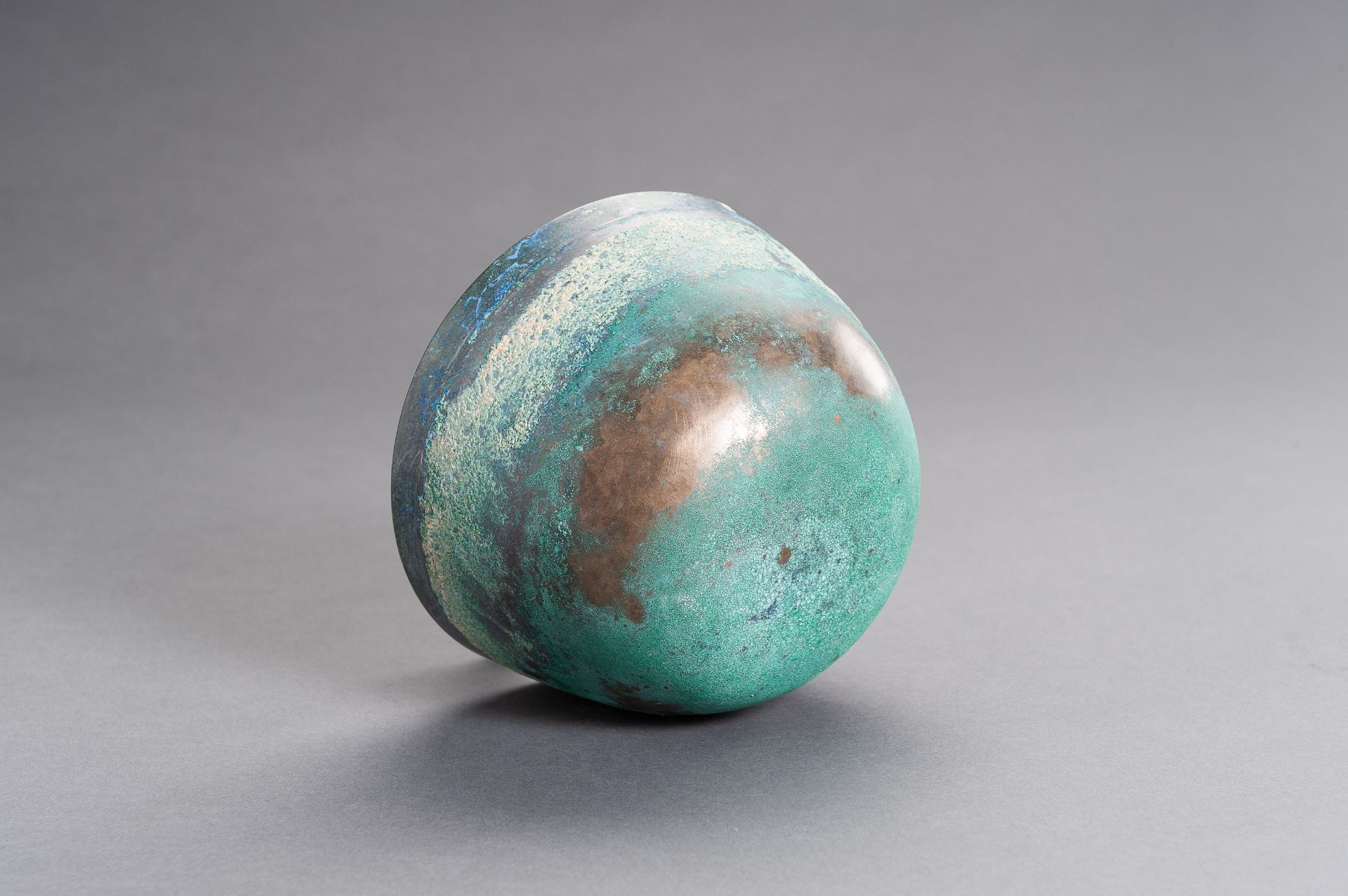 A CHINESE BRONZE BOWL, HAN - Image 9 of 9