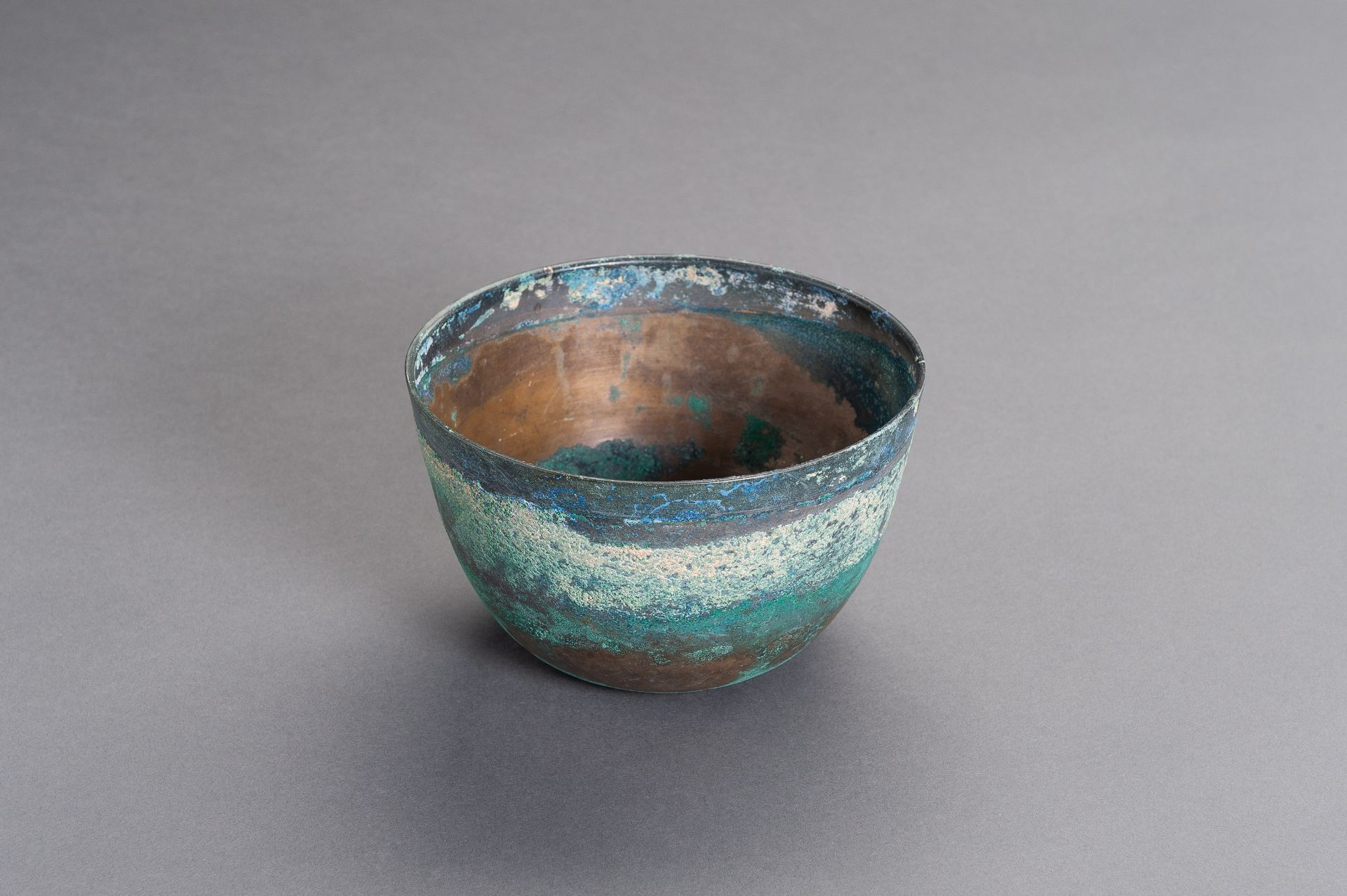 A CHINESE BRONZE BOWL, HAN - Image 2 of 9