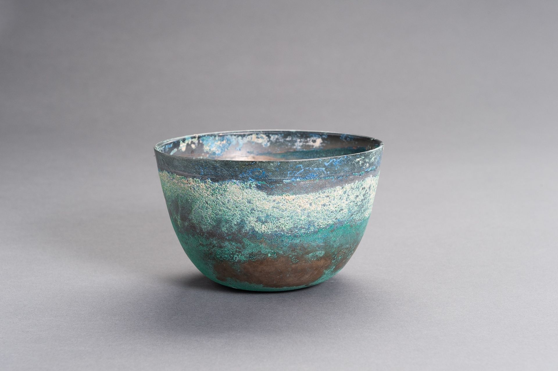 A CHINESE BRONZE BOWL, HAN - Image 3 of 9