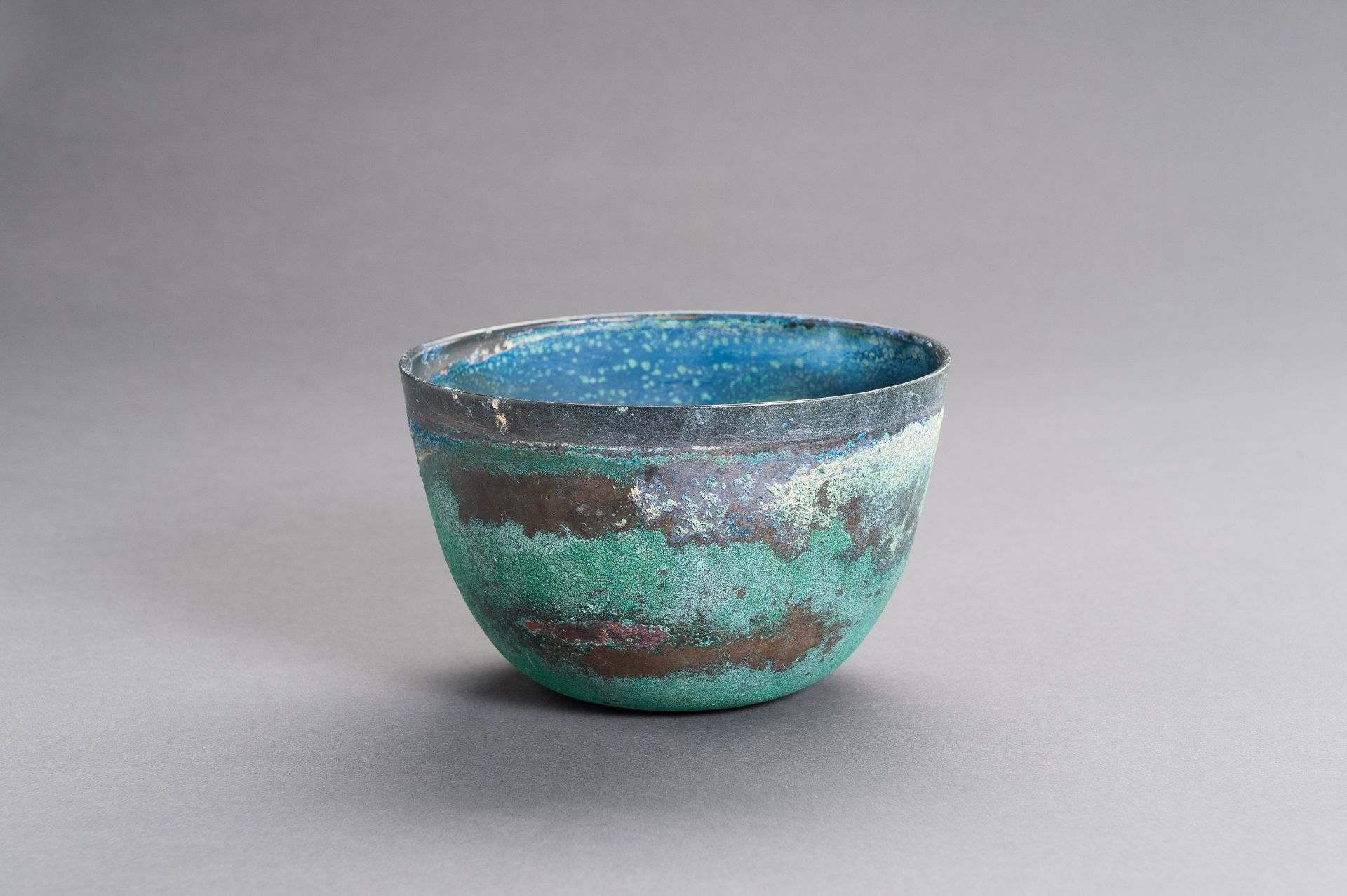 A CHINESE BRONZE BOWL, HAN - Image 5 of 9