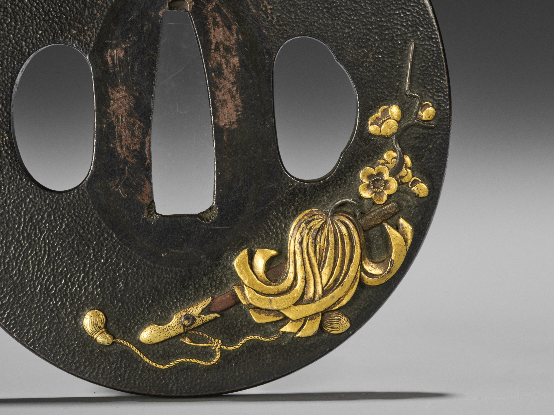 A SHIBUICHI AND GOLD TSUBA - Image 3 of 4