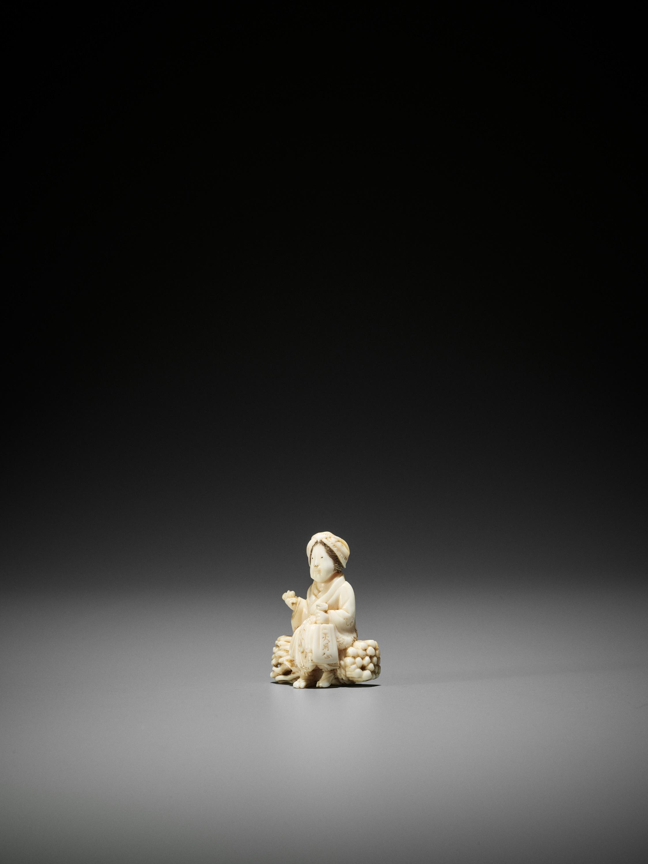 HIDECHIKA: AN IVORY NETSUKE OF OHARAME - Image 3 of 3