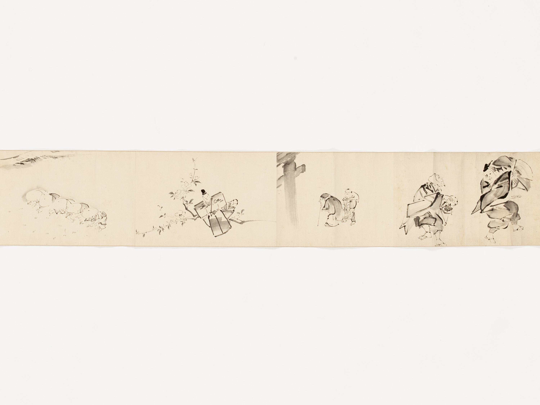 A MAKIMONO WITH TEN SCENES - Image 3 of 8