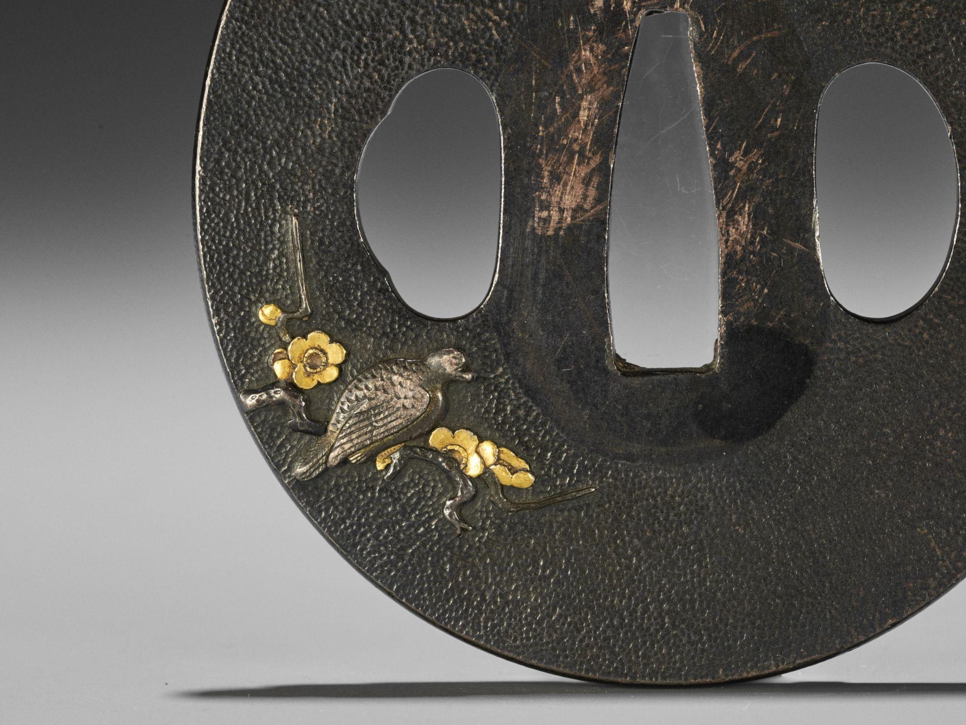 A SHIBUICHI AND GOLD TSUBA - Image 4 of 4