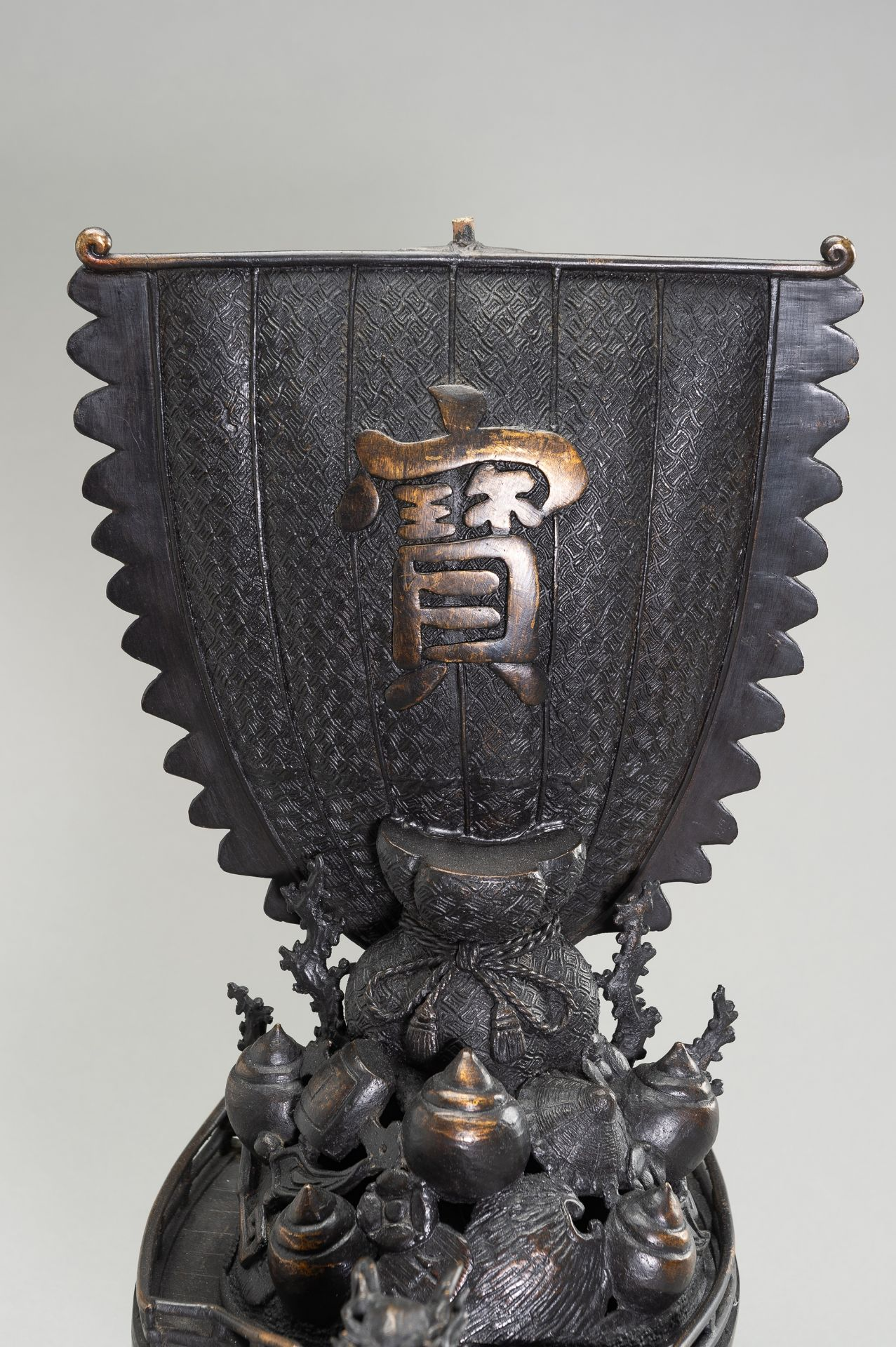 A LARGE BRONZE CENSER IN THE SHAPE OF A TREASURE SHIP - Image 13 of 13